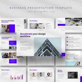 Design Workflow Business Presentation Template