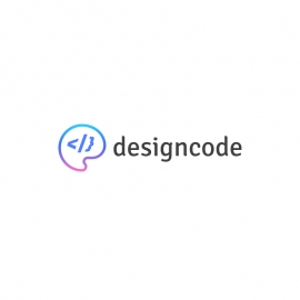 DesignCode Logo with Colour Palette and Coding Tags