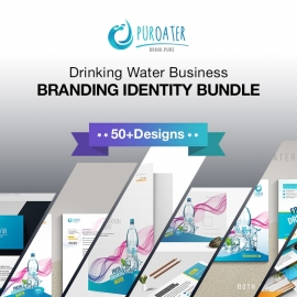 Drinking Water Business Branding Identity Bundle