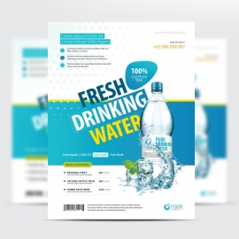 Drinking Water Business Flyer