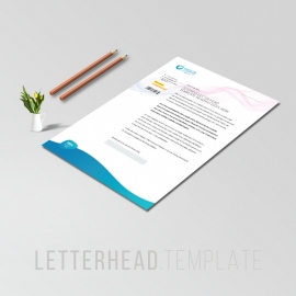 Drinking Water Business Letterhead
