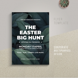 Easter Big Hunt Poster Design Template