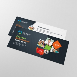 Education & School Compliment Card With Black