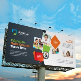 Education & Training Billboard Banner With Black Accent