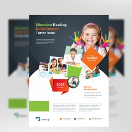 Education & Training School Flyer With Colorful Design