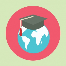 Education With Globe Vector Design