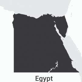 Egypt Map Vector Design
