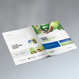 Energy Business Presentation Folder With Building Elements