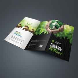 Energy TriFold Brochure With Black Green Accent