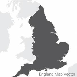 England Map By Dark Vector Design