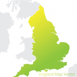 England Map By Gradient Color Vector Design