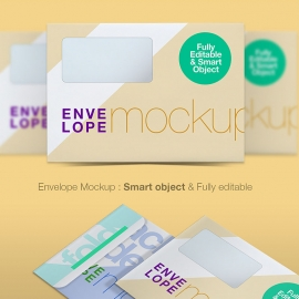 Envelope Mockup B5 Layered PSD Graphics