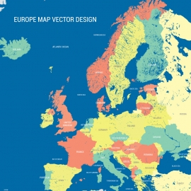 Europe Map Vectors Design