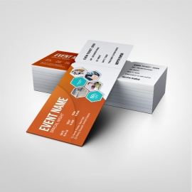 Event Ticket With Orange Accent