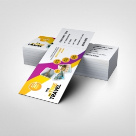 Event Ticket With Yellow And Purple Accent