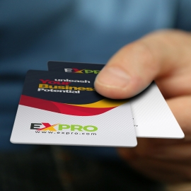 Expro Brand Clean Business Card