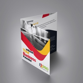 Expro Clean Brand Squre Trifold Brochure