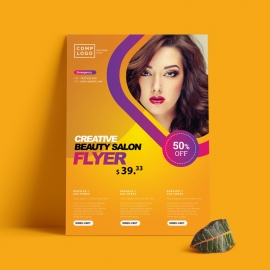 Fashion Flyer With Purple And Yellow Accent