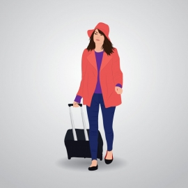 Fashion Girl Vector Illustration