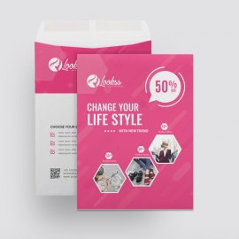 Fashion Sale Catalog Envelope
