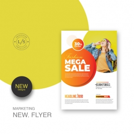Fashion Sale Flyer / Poster With Colorful