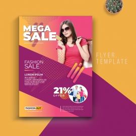 Fashion Sale Flyer With Colorful