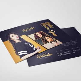 Fashion Sale Modern PostCard With Dark And Golden Accent