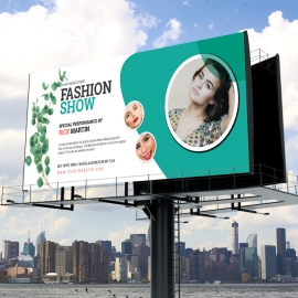 Fashion Show Billboard Template