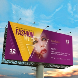 Fashion Week Billboard Sinage With Triangle