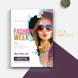 Fashion Week Flyer With Colorful
