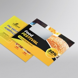 Fast Food B5 Envelope With Yellow Black Accent