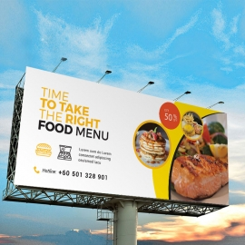 Fast Food Billboard Banner