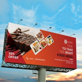 Fast Food Billboard Banner