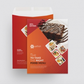 Fast Food Catalog Envelope