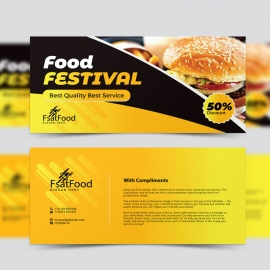 Fast Food Compliment Card With Yellow Black Accent