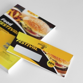 Fast Food DL Envelope Commercial With Yellow Accent
