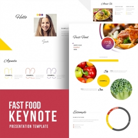 Fast Food Keynote Template