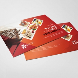Fast Food Post Card
