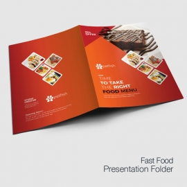 Fast Food Presentation Folder