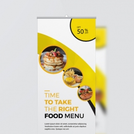 Fast Food Rollup Banner