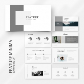 Feature Minimal PowerPoint Template