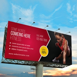 Fitness Billboard Sinage