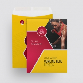 Fitness Business Catalog Envelope