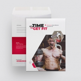Fitness Catalog Envelope Template
