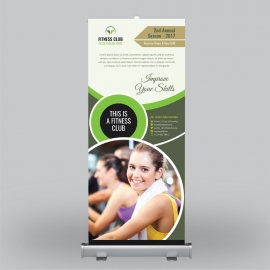 Fitness & Gym Roll-Up Benner Template