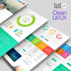 Flat UI Kit PSD & Vector Pack
