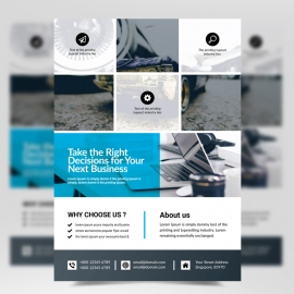 Flyer Template Boxs Design