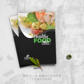 Food and Restaurant Bifold Brochure Template