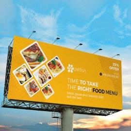 Food and Restaurant Billboard Banner