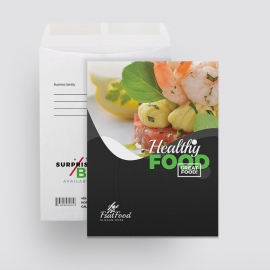 Food and Restaurant Catalog Envelop Template